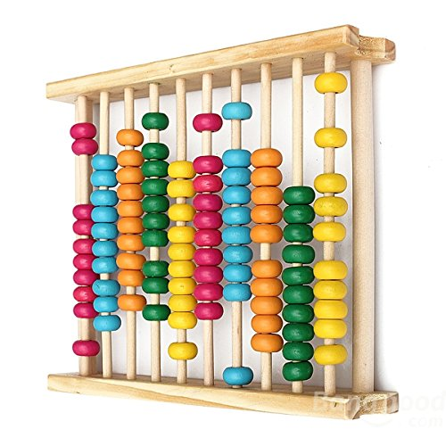 Bazaar Baby Kids Wooden Abacus Toys Computing Calculator Math Learning Tool