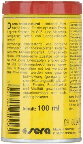 sera 00556 crabs natural 100 ml - Speziell für die Bedürfnisse von Krebsen entwickelt -