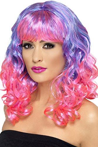 AEC-SM42399-Perruque-Diva-Violette-Frange-Rose