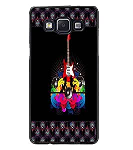 PrintDhaba Guitar D-4607 Back Case Cover for SAMSUNG GALAXY A5 (Multi-Coloured)