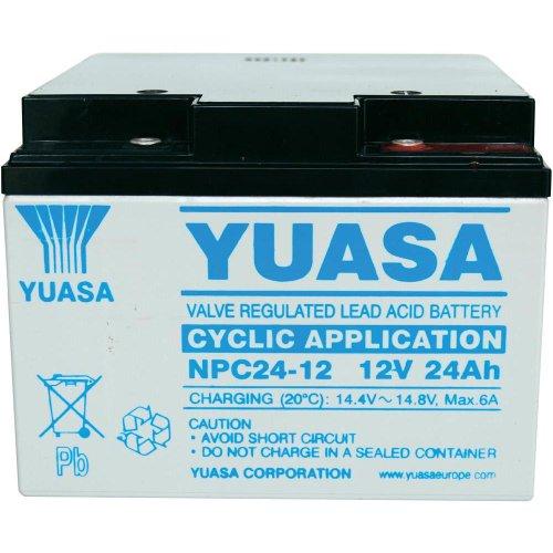 Batteria Yuasa NPC24-12I 12V 24Ah Dimensioni (mm): Lunghezza: 166 x Larghezza: 175 x Altezza: 125 (equivalente a YPC26-12)