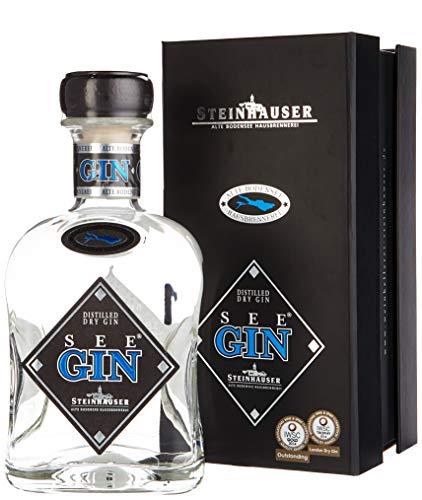 SeeGin Steinhauser Distilled Dry Gin mit Geschenkverpackung (1 x 0.7 l) -