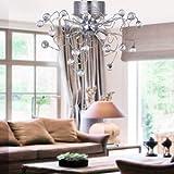 ALFRED® Chandeliers Crystal Modern Design Living 9 Lights, Flush Mount Ceiling Light Fixture for Hallway, Entry, Dining Room, Living Room, Bulb Included