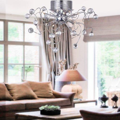 ALFRED Plafoniere Lampadario di cristallo moderno con 9 luci, montaggio a filo soffitto per le lampade per Corridoio, ingresso, sala da pranzo, salotto, Lampadina inclusa