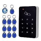 OBO HANDS RFID lector de tarjetas de control de acceso independiente con Digital teclado + 10 TK4100 teclas para hogar/apartamento/sistema de seguro d