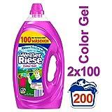 Weißer Riese Color Gel, Flüssigwaschmittel, 200 (2 x 100) Waschladungen, extra...