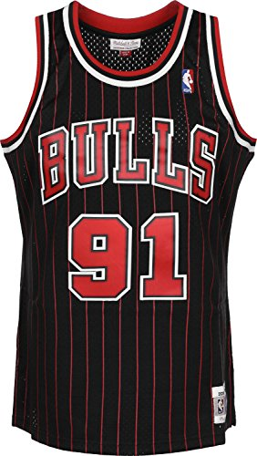 Mitchell & Ness Swingman Jersey Chicago Bulls Dennis Rodman 91 Black/Red XL