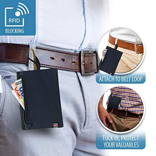Lewis N Clarks RFID-Blocking Hidden Travel Wallet Münzbörse, Schwarz