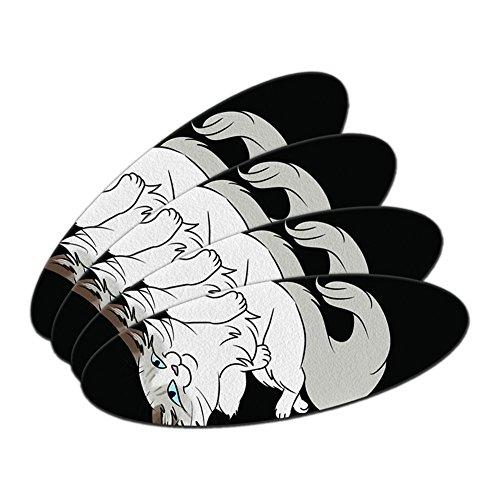 Ragdoll Katze auf Schwarz–Pet doppelseitig oval Nagelfeile Emery Board Set 4Stück