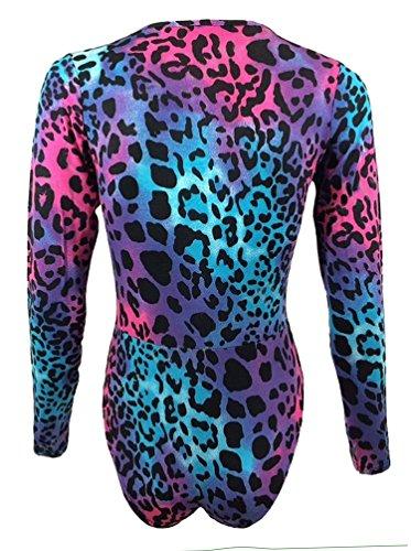 Fast Fashion - Body À Armée Leopart Chien Thoth Robe Imprimée V Cou - Femmes Leopard Neon