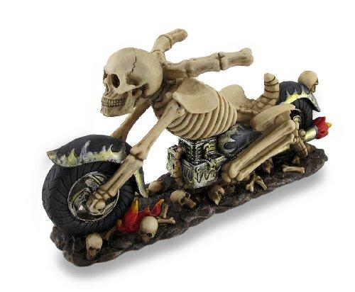 Bad To The Bone Skelett Biker Weinflaschenhalter (Accessoires Bad Halloween)