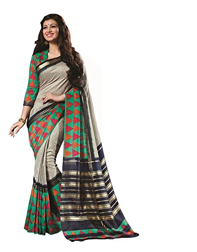 SAREES(Women\'s Clothing Sarees for Women latest Color Sarees collection in latest Bhagalpuri Sarees with designer Blouse Piece free size beautiful bollywood Sarees for Women party wear offer designer