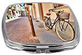 Rikki Knight Compact Mirror, Bicycle On The Street Of Alba Italy, 3 Ounce Amazon