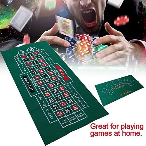 Destinely Pokertischdecke, 60 120cm Spielfläche Pokertischplatte, Spieltischdecke mit doppelseitigem Muster aus Vliestischmatte Blackjack und Roulettetischdecke