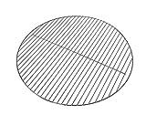 Kenley Griglia cromata in filo d' acciaio per barbecue a carbonella barbecue a gas–rotondo–diametro 54.5cm