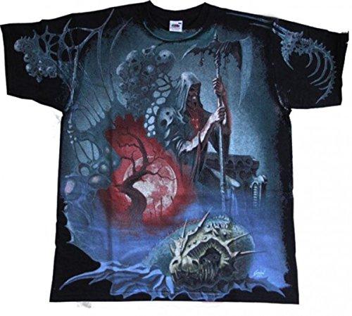 Soul Sensenmann Kostüm - Dark Dreams Gothic Metal Wacken Fantasy Drachen Dämon T - Shirt Tshirt Souleater M L XL XXL, Größe:M