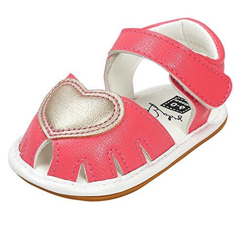 Longra L'amore duri fondo in gomma inferiore duro sandali Soled Rosa caldo