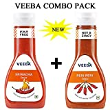#1: VEEBA SRIRACHA SAUCE & PERI PERI SAUCE COMBO PACK (PACK OF 2)