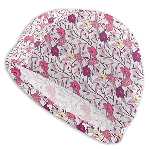 astic Swimming Hat Diving Caps,Far Eastern Nature Sakura Tree with Buds and Blossoms Coming of Spring,for Men Women Youths ()
