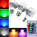 E14 GU10 B22 E26/E27 Ampoules Globe LED A60(A19) 1 diodes électroluminescentes LED Haute Puissance Intensité Réglable Commandée à ( Connecteur : E26/E27 , Couleur de source : RGB )