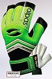 Alpas Torwarthandschuhe PowerSafe V2 Hellgrün (Fingersave) Gr. 3 bis 12 *Neu* (Optional mit Ihrem Druck) (9)
