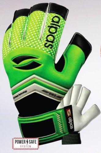 Alpas Torwarthandschuhe PowerSafe V2 Hellgrün (Fingersave) Gr. 3 bis 12 *Neu* (Optional mit Ihrem Druck)