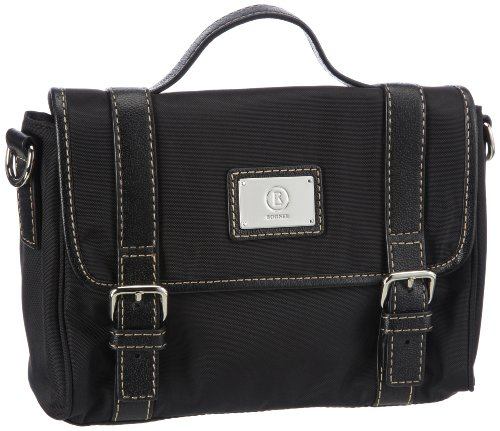 Bogner Leather Borsa Messenger, Elba Mancora, nero  Schwarz (black/black 008), 0493795 Schwarz (black/black 008)