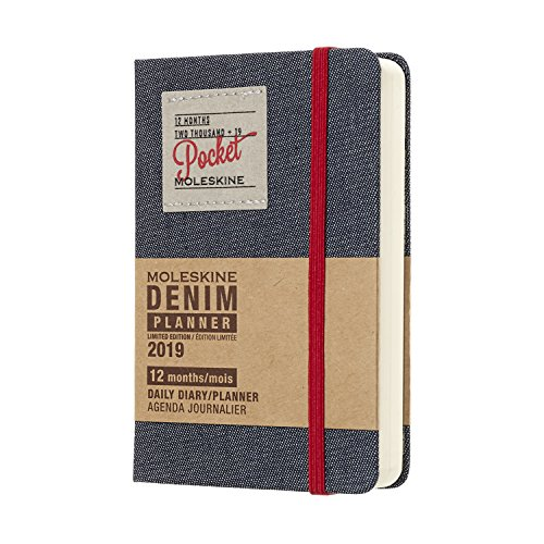 2019 Moleskine Denim Limited Edition Notebook Black Pocket Daily 12-month Diary - Anpassen Laptop