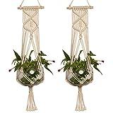 Gaeruite – Macramé colgante de cuerda para maceta, maceta, grande, para colgar en...