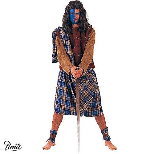 Imagen de limit sport  disfraz de guerrero escocés para hombre, talla xl da761