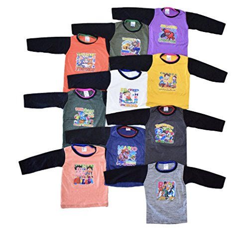 10 Full Sleeve Cotton Tshirts for Baby...