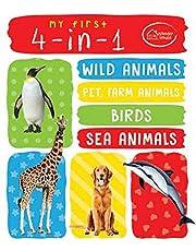 My First 4 In 1 One Wild Animals Pet and Farm Animals Birds