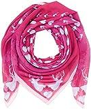 Alpenflüstern Damen Trachtenhalstuch Trachtentuch Hirsch-Kreisel, Rosa (Pink 25), One Size (Herstellergröße: 100 cm x 100 cm)