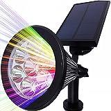 Solar Strahler, LEDNut 7 LED 320 Lumen 7 Farben Solarbetriebene Scheinwerfer 2-in-1 Verstellbare Gartenleuchten Solarleuchte Landscape Beleuchtung Outdoor Spotlight - Das 4. Gen