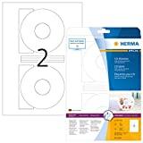 Herma CD labels white ø 116 SuperPrint 50 pcs. - Etiquetas de impresora (Color blanco, Labels/pack - 50 pcs. Sheets/pack - 25 pcs., ø 116 mm, A4 sheets)
