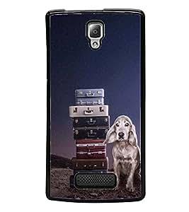 PrintVisa Designer Back Case Cover for Lenovo A2010 (Cute Dog Pattern Sky)