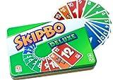 Mattel Games L3671 Skip-Bo Deluxe in Metalldose Kartenspiel