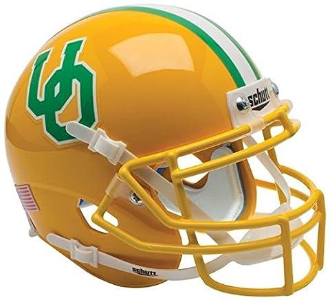 NCAA Oregon Ducks Gold Throwback 3 Mini Helmet, One Size, White