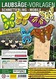 Laubsägevorlagen Schmetterling (Mobile): Laubsägevorlage für ein Mobile mit Schmetterlingen