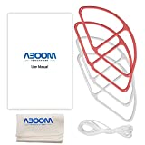 #9: Aboom Dji Phantom 4 Propeller Guards (Red And White) Prop Guard Protector Shield And Cleaning Cloth