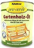 Xyladecor pro verde Gartenholz-ÖL, 0,75 Liter in Teak
