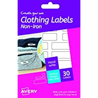 Avery HNI01 Create Your Own Self-Adhesive Hand Writing Washable Clothing Name Labels, 15 Labels Per Sheet