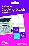 Avery Erstellen Sie Ihre eigenen Bügelfreier Kleidung Etiketten, weiß, 30 Stück