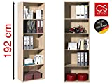 "Regal Büroregal Bücherregal Standregal Regale Mehrzweckregal Holz ""Trio III"" (Eiche)"
