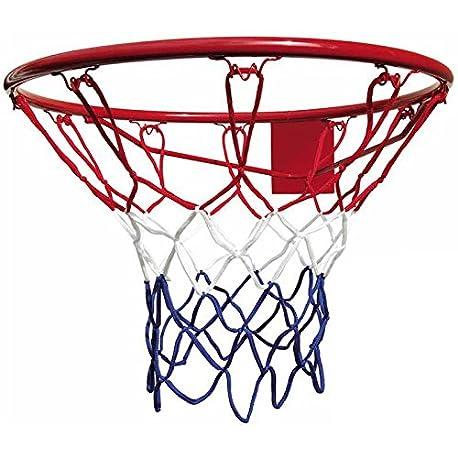 Best Red de baloncesto para aro de 45 cm color azul blanco y rojo