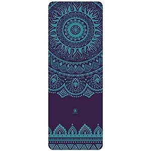 HOMFA Yoga Matte aus Natuarkatschuk 2-in-1 von Matte und Handtuch ideal für...