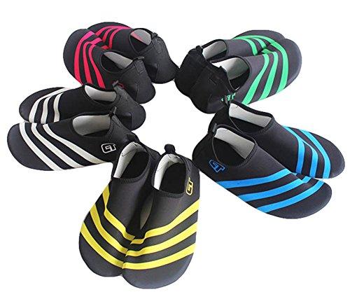 Fortuning's JDS Durevole Suola immersione Aqua scarpe di pelle di estate Yoga traspirante Calze sportive Piscina Spiaggia Su scarpe da surf sport acquatici Rosso