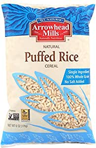 Arrowhead Mills Puffed Brown Rice Cereal 170 gm (Pack of 12)