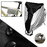 Huntvp Fahrradabdeckung 190T Wasserdicht Fahrradschutzhülle Bike Cover Fahrradüberzeug Fahrradabdeckung UV Schutz Kompatibel mit Allen Modellen von Fahrrad Silbern Schwarz