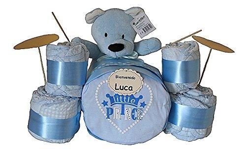 Batería pañales azul - regalo original bebé niño